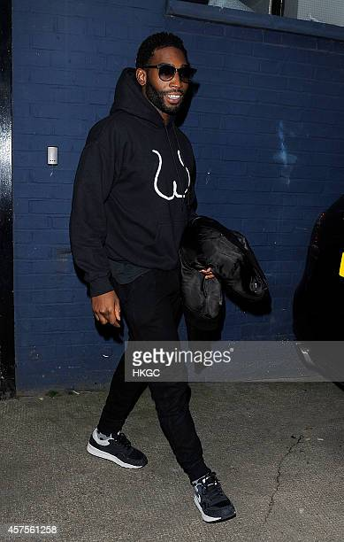 Tinie Tempah leaves the XFactor rehearsal studio on October 20 2014 in London England