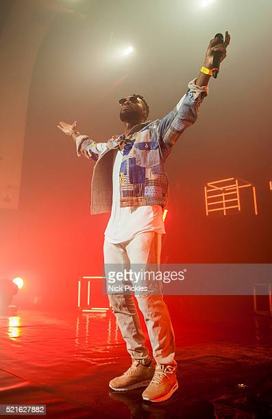 Tinie Tempah performs at Brixton Academy on April 17 2016 in London England