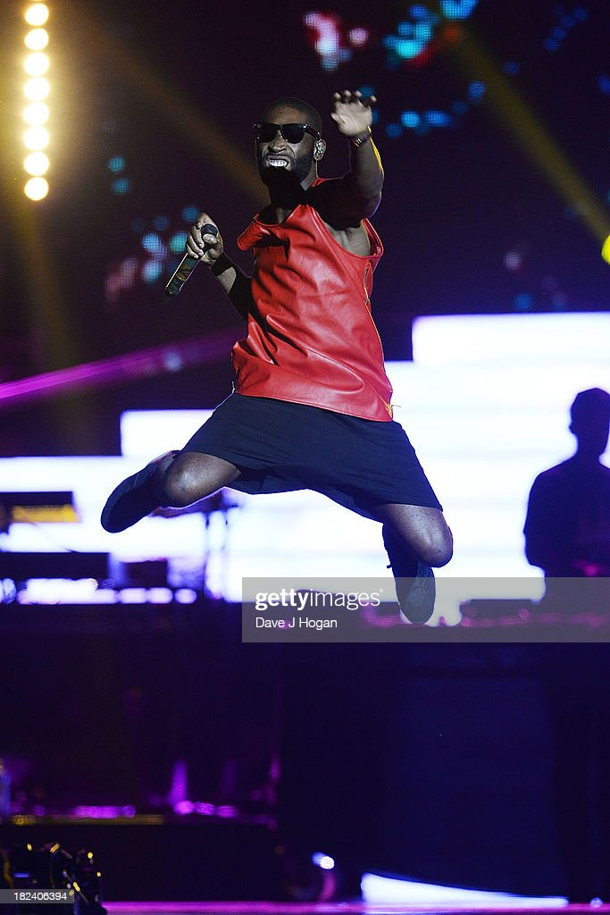 Tinie Tempah performs at 'Unity: A Concert For Stephen Lawrence' in aid of The Stephen Lawrence Charitable Trust at the O2 Arena on September 29, 2013 in London, England.