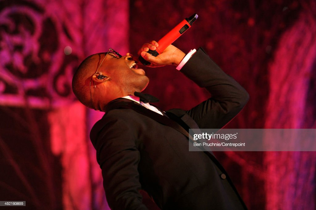 Tinie Tempah performs during the Winter Whites Gala In Aid Of Centrepoint on November 26, 2013 in London, England.