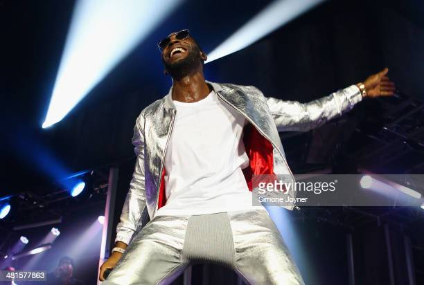 Tinie Tempah performs live on stage at O2 Arena on March 30 2014 in London England