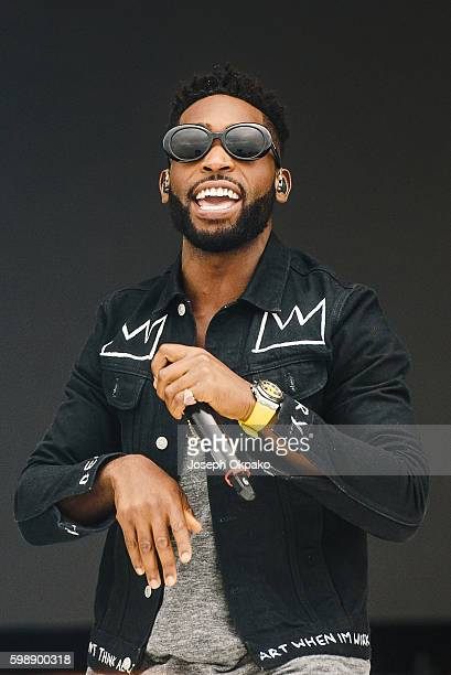 Tinie Tempah performs on Day 1 at Fusion Festival on Otterspool Promenade on September 3 2016 in Liverpool England