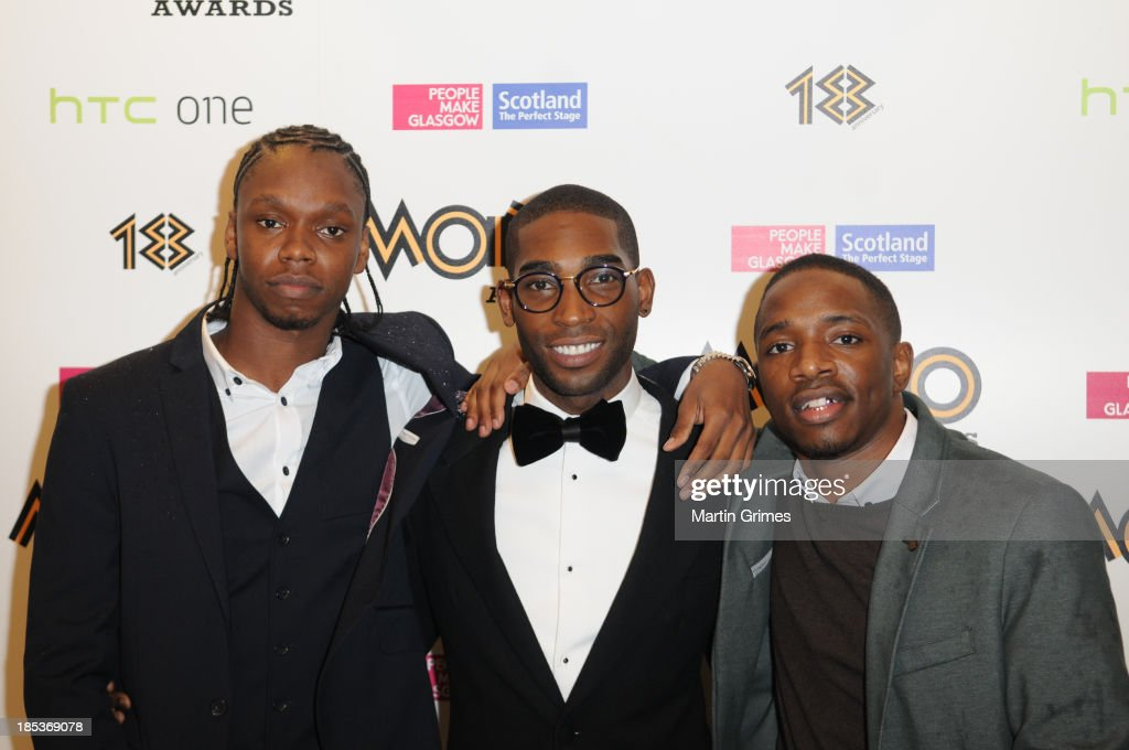 <a gi-track='captionPersonalityLinkClicked' href=/galleries/search?phrase=Tinie+Tempah&family=editorial&specificpeople=6742538 ng-click='$event.stopPropagation()'>Tinie Tempah</a> poses with Krept & Konan at the 18th anniversary MOBO Awards at The Hydro on October 19, 2013 in Glasgow, Scotland.