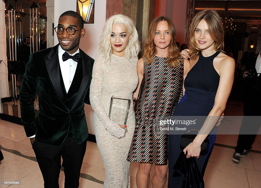 Tinie Tempah, Rita Ora, Stella McCartney and Natalia Vodianova attend the Harper's Bazaar Women of the Year awards at Claridge's Hotel on November 5, 2013 in London, England.