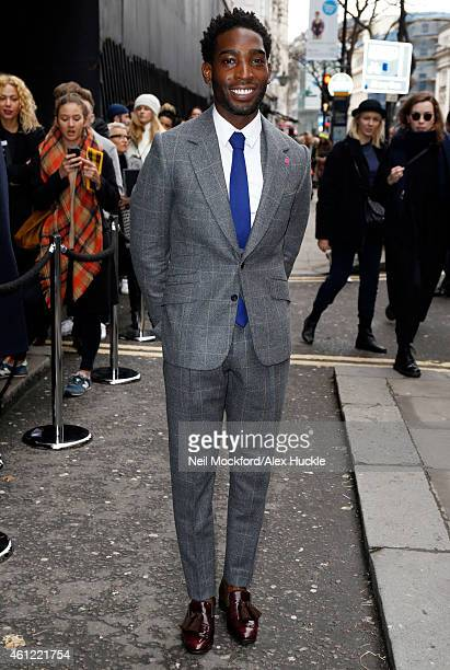 Tinie Tempah sighted arriving at the TOPMAN Showspace at the Old Sorting Office to attend the Topman Design Show during London Collections Men AW15...