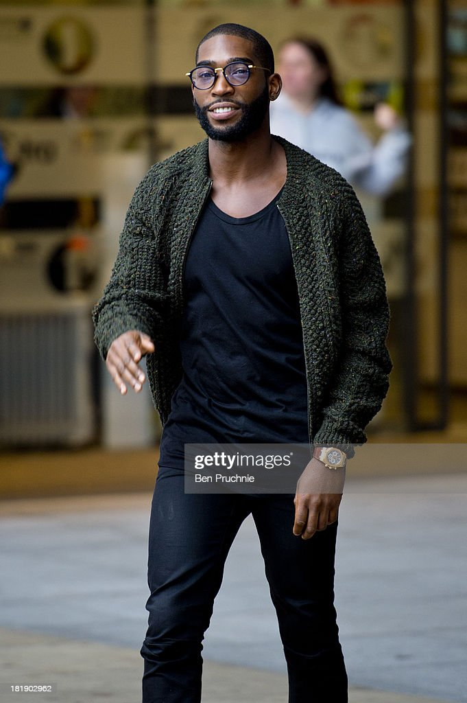 <a gi-track='captionPersonalityLinkClicked' href=/galleries/search?phrase=Tinie+Tempah&family=editorial&specificpeople=6742538 ng-click='$event.stopPropagation()'>Tinie Tempah</a> sighted at BBC Radio Studios on September 26, 2013 in London, England.