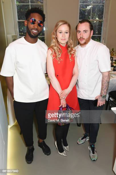 Tinie Tempah Stephanie Watine Arnault Clos19 Founder CEO and chef Tom Sellers attend the Clos19 launch dinner on May 10 2017 in London England