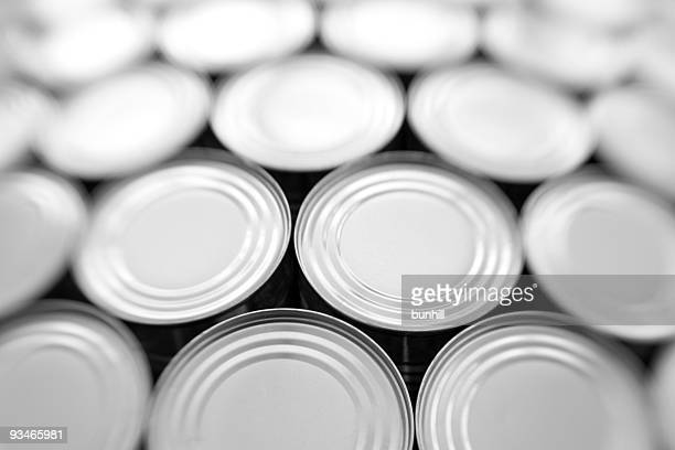 tinned food - generic steel cans / tins packaging