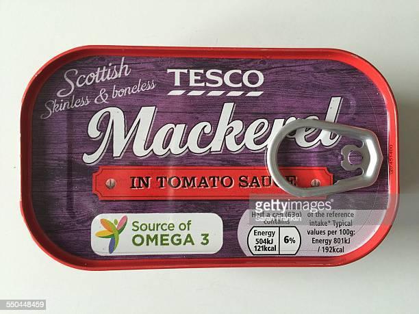 Tinned mackerel in tomato sauce