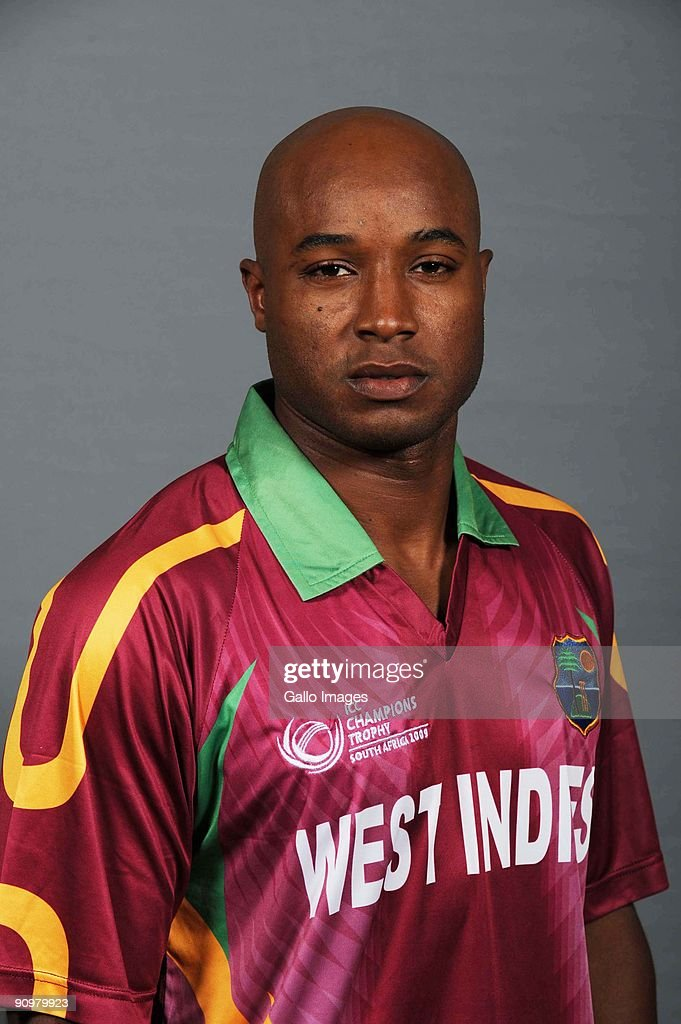 <a gi-track='captionPersonalityLinkClicked' href=/galleries/search?phrase=Tino+Best&family=editorial&specificpeople=209064 ng-click='$event.stopPropagation()'>Tino Best</a> of the West Indies poses during a ICC Champions photocall session at Sandton Sun on September 19, 2009 in Sandton, South Africa.
