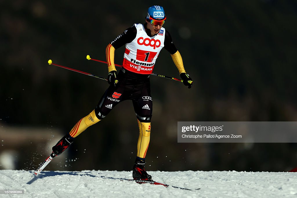 <a gi-track='captionPersonalityLinkClicked' href=/galleries/search?phrase=Tino+Edelmann&family=editorial&specificpeople=774954 ng-click='$event.stopPropagation()'>Tino Edelmann</a> of Germany takes the bronze medal during the FIS Nordic World Ski Championships Nordic Combined Team Sprint on March 02, 2013 in Val di Fiemme, Italy.