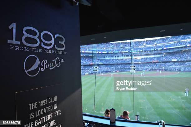 Tino Martinez and Pam Wiznitzer bartend at the official launch of 1893 Club at Yankee Stadium on June 20 2017 in New York City