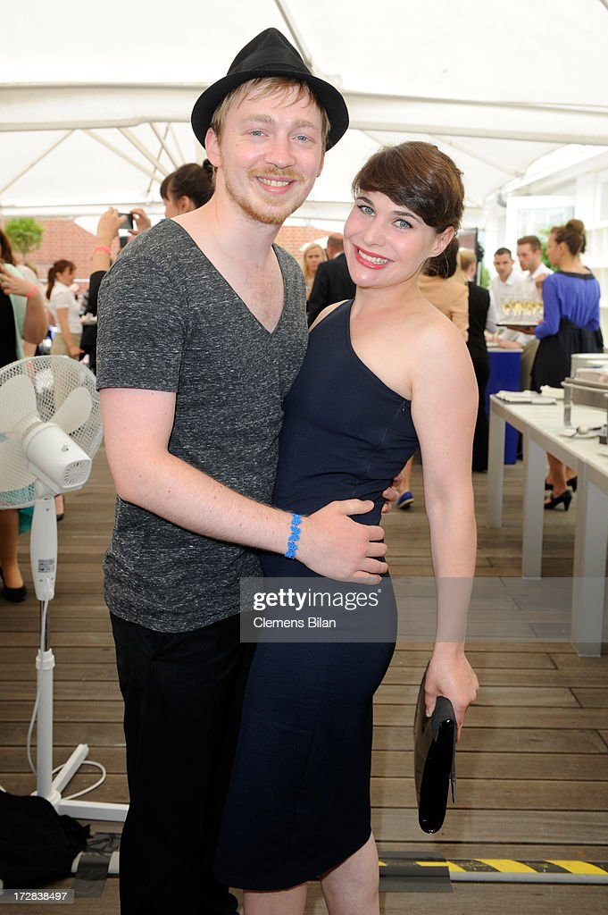 Tino Mewes and Jamila Saab attend the Gala Fashion Brunch at Ellington Hotel on July 5, 2013 in Berlin, Germany.