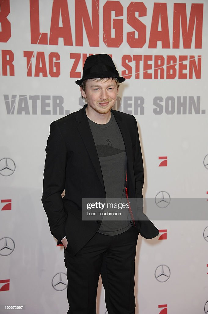 Tino Mewes attends the premiere of 'Die Hard - Ein Guter Tag Zum Sterben' at Sony Center on February 4, 2013 in Berlin, Germany.