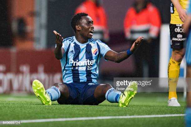 Tinotenda Kadewere of Djurgardens IF dejected during the Allsvenskan match between IF Elfsborg and Djurgardens IF at Boras Arena on September 19 2017...