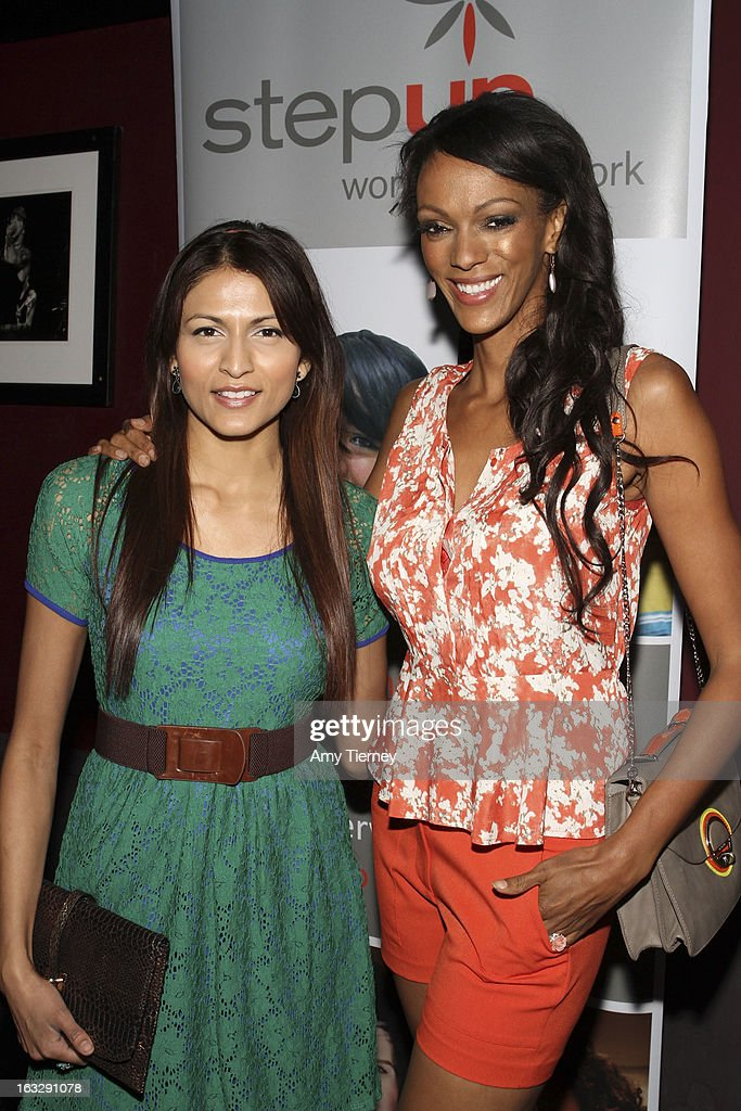 Tinsel Korey and Judy Shekoni attend the Step Up Women's Network Women Who Rock Event at The Roxy Theatre on March 6, 2013 in West Hollywood, California.