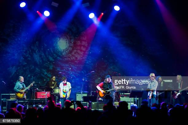 Tinsley Ellis Duane Trucks THardy Morris Kevn Kinney Todd Snider Dave Schools and Peter Buck perform on stage during Hampton 70 at The Fox Theatre on...