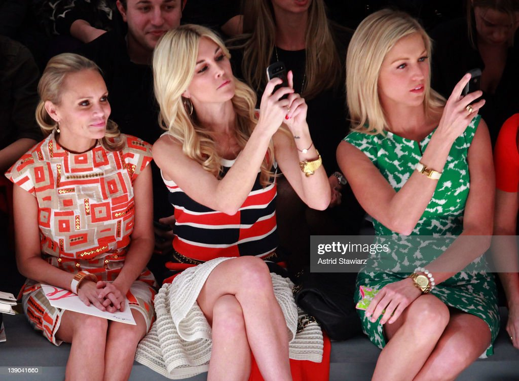 <a gi-track='captionPersonalityLinkClicked' href=/galleries/search?phrase=Tinsley+Mortimer&family=editorial&specificpeople=207123 ng-click='$event.stopPropagation()'>Tinsley Mortimer</a>, actress Kristin Chenoweth and Kimberly Guilfoyle attend the Milly By Michelle Smith Fall 2012 fashion show during Mercedes-Benz Fashion Week at The Stage at Lincoln Center on February 15, 2012 in New York City.