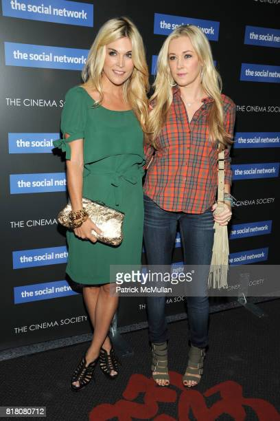 Tinsley Mortimer and Dabney Mercer attend COLUMBIA PICTURES THE CINEMA SOCIETY host a screening of 'THE SOCIAL NETWORK' at The SVA Theater on...