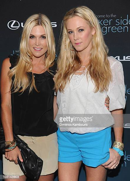 Tinsley Mortimer and Dabney Mercer attend The Darker Side of Green debate series moderated by Tracey Morgan at The Bowery Hotel on July 27 2010 in...