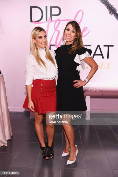 Tinsley Mortimer and Kelly Dodd attend Too Faced's Better Than Sex Popup Launch on October 18 2017 in New York City