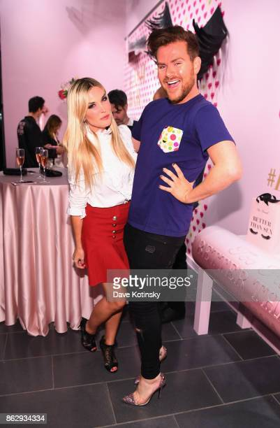 Tinsley Mortimer and Travis Cronin attend Too Faced's Better Than Sex Popup Launch on October 18 2017 in New York City