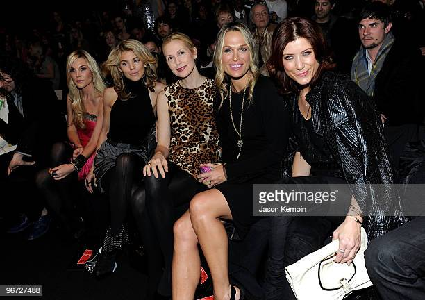 Tinsley Mortimer AnnaLynne McCord Kelly Rutherford Molly Sims and Kate Walsh attend the Ecco Domani Fashion Foundation Fall 2010 Fashion Show during...