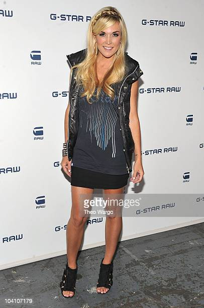 Tinsley Mortimer attends the GStar RAW Spring/Summer 2011 fashion show at Pier 94 on September 14 2010 in New York City