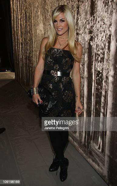 Tinsley Mortimer attends the Milly by Michelle Smith Fall 2011 fashion show during MercedesBenz Fashion Week at The Stage at Lincoln Center on...