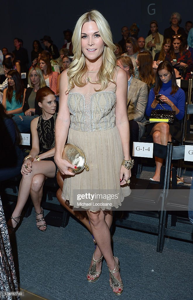 <a gi-track='captionPersonalityLinkClicked' href=/galleries/search?phrase=Tinsley+Mortimer&family=editorial&specificpeople=207123 ng-click='$event.stopPropagation()'>Tinsley Mortimer</a> attends the Nicole Miller Spring 2014 fashion show during Mercedes-Benz Fashion Week at The Studio at Lincoln Center on September 6, 2013 in New York City.