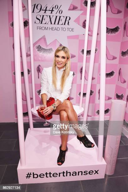 Tinsley Mortimer attends Too Faced's Better Than Sex Popup Launch on October 18 2017 in New York City