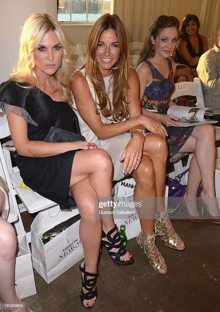 Tinsley Mortimer, Kelly Bensimon and Luara Osnes attends NYFW S/S 2013: 'PIJU' Collection Launch at New York Fashion Palette at Dream Downtown on September 5, 2012 in New York City.