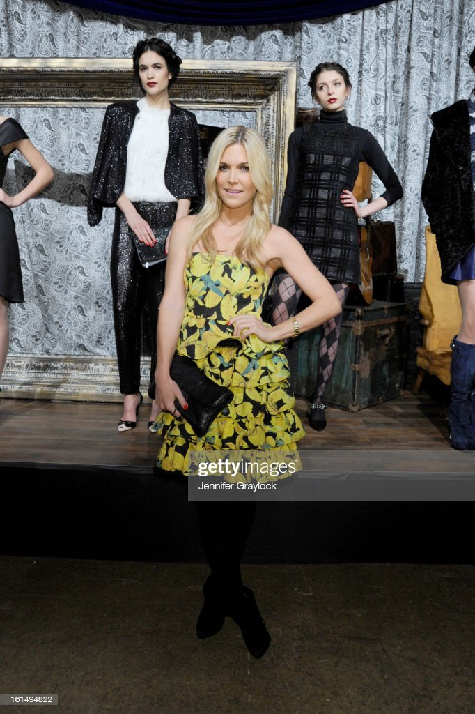 <a gi-track='captionPersonalityLinkClicked' href=/galleries/search?phrase=Tinsley+Mortimer&family=editorial&specificpeople=207123 ng-click='$event.stopPropagation()'>Tinsley Mortimer</a> poses at the Alice + Olivia By Stacey Bendet Fall 2013 fashion show presentation during Mercedes-Benz Fashion Week at Highline Stages on February 11, 2013 in New York City.