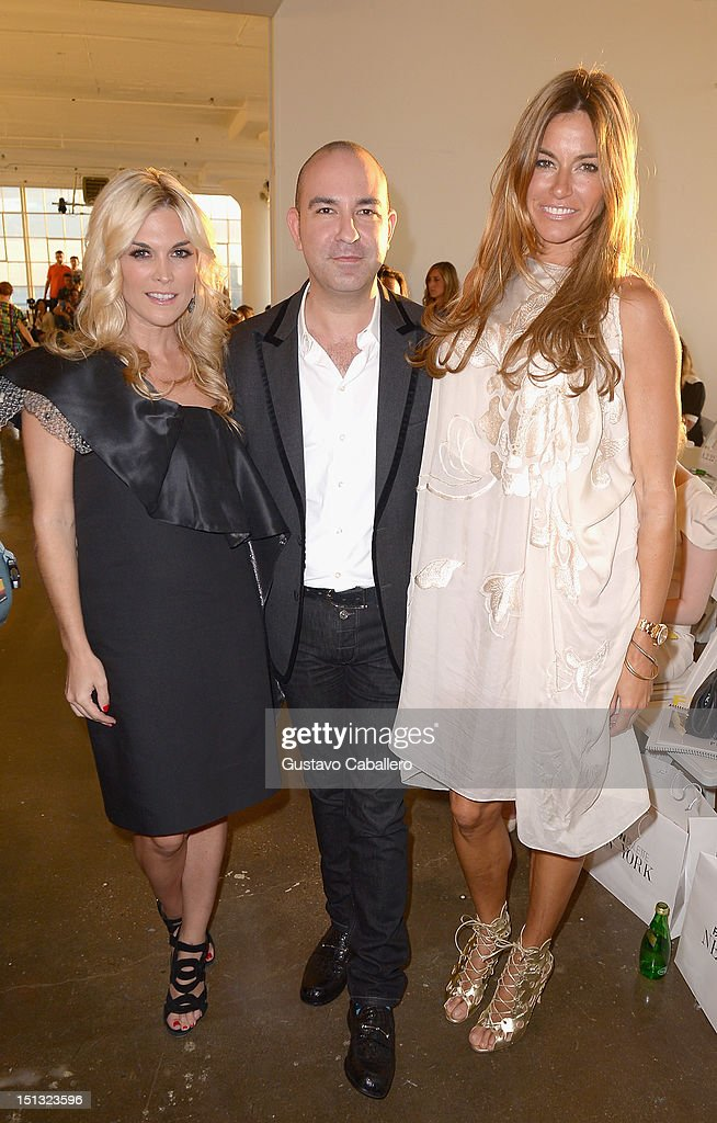 <a gi-track='captionPersonalityLinkClicked' href=/galleries/search?phrase=Tinsley+Mortimer&family=editorial&specificpeople=207123 ng-click='$event.stopPropagation()'>Tinsley Mortimer</a>,Bruno Schiavi and Kelly Bensimoni attends NYFW S/S 2013: 'PIJU' Collection Launch at New York Fashion Palette at Dream Downtown on September 5, 2012 in New York City.