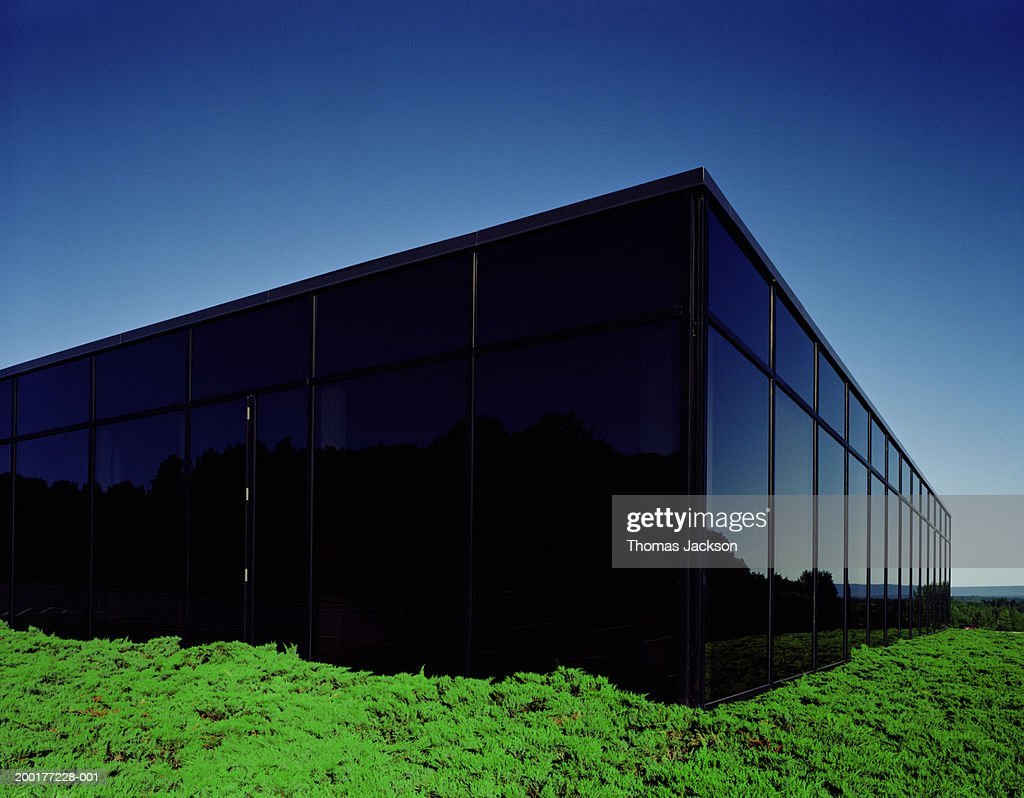 Tinted glass office building