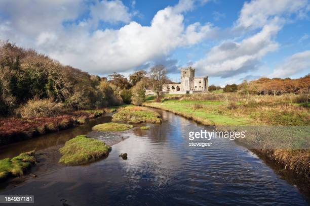 Tintern Abbey and River, County Wexford, Ireland