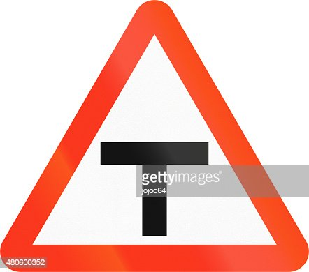 T-Intersection in Bangladesh : Stock Photo