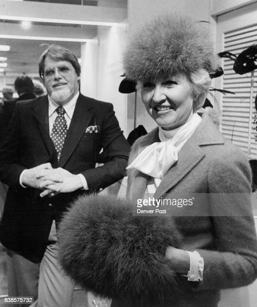 OCT 22 1979 NOV 22 1979 'Tiny Hats Don't Mash the Hair ' Designer Says Frank Olive approves furry chapeau and muff on model Vi Chapin Credit Denver...