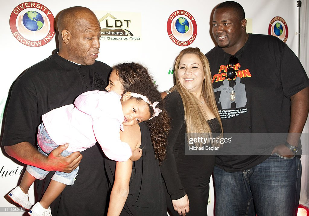 Tiny Lister and daughter, Diana Lopez and Quinton Aaron at Diana Lopez Birthday Celebration on May 22, 2010 in Los Angeles, California.