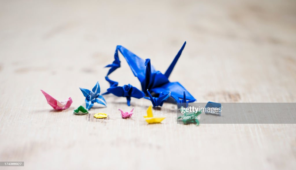 A tiny series of Toma Takeda's origami is seen on July 17, 2013 in Yokohama, Japan. Self-taught origami artist, Toma Takeda was diagnosed with Moyamoya disease and had surgery at the age of 8. During his 2 months recovery in the hospital he started to learn the art of origami to pass time and mastered the skill after many years of practice. Unless he finds it necessary, most of his origami works are created without using glue or scissors and can be folded with one piece of paper. Toma, now 16, continues origami as his main hobby and spends time at a local private art workshop owned by a fine artist to learn drawing with hopes to work in the arts or related fields in the future.