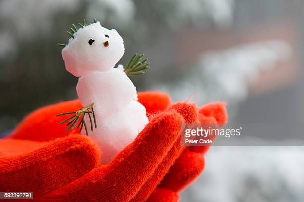 Tiny snowman in hand