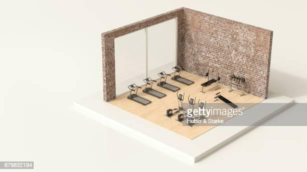 tiny world, fitness room
