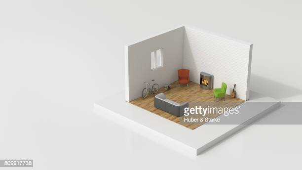 tiny world, living room