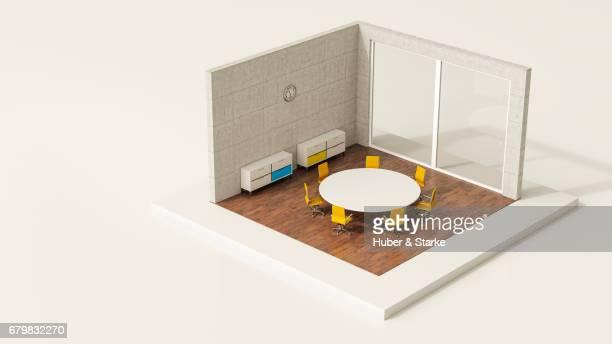 tiny world, modern office
