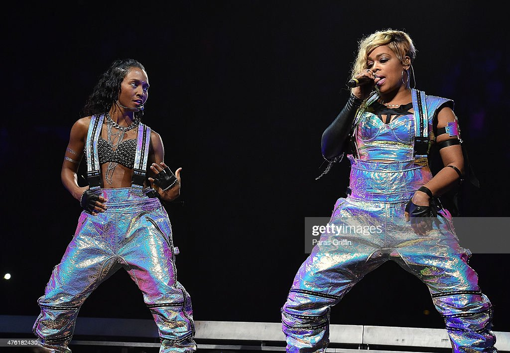 Tione 'TBoz' Watkins and Rozonda 'Chilli' Thomas of TLC perform onstage at Phillips Arena on June 6 2015 in Atlanta Georgia