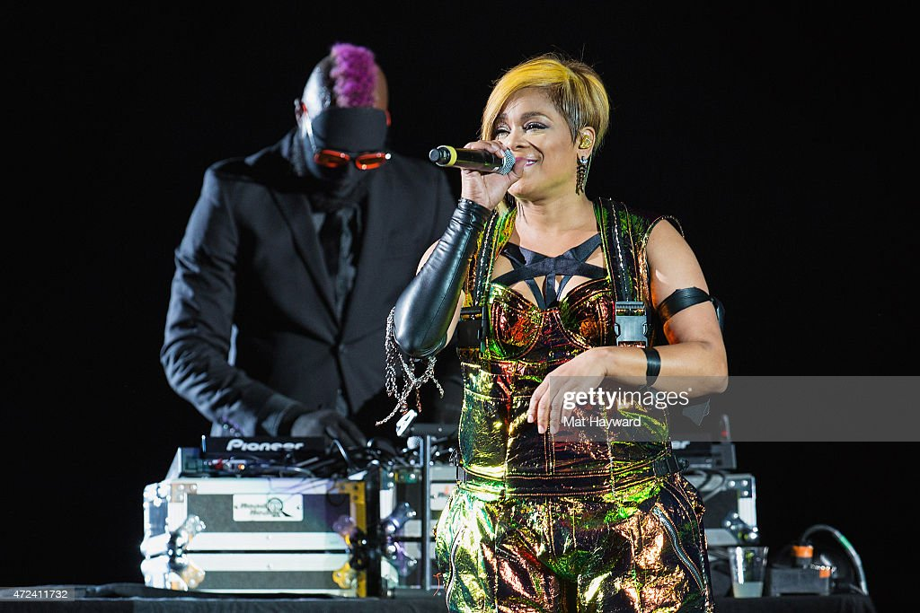 Tionne Watkins of TLC performs on stage at Tacoma Dome on May 6 2015 in Tacoma Washington