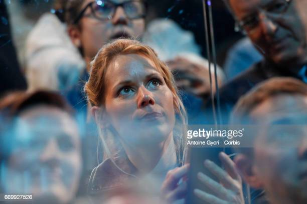 Tiphaine Auziere attend the campaign rally of French presidential candidate Emmanuel Macron at AccorHotels Arena on April 17 2017 in Paris France...