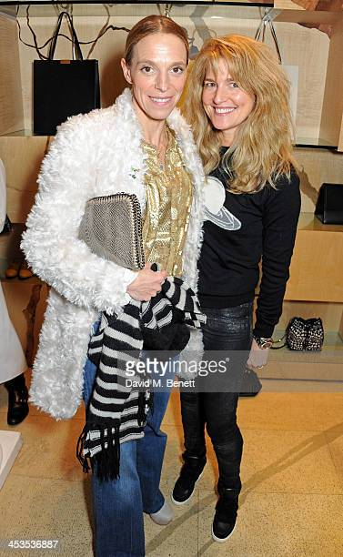 Tiphaine de Lussy and Avery Agnelli attend the Stella McCartney Christmas Lights Switch On at the Stella McCartney Bruton Street Store on December 4...