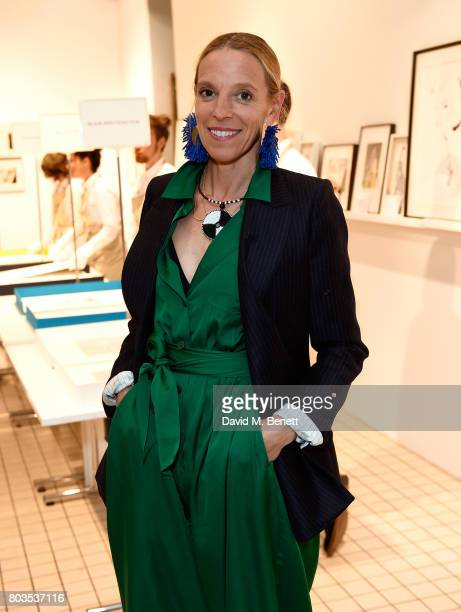Tiphaine de Lussy attends the Fashion Illustration Gallery Art Fair private view at The Shop at Bluebird cohosted b Lucinda Chambers and Wendy Yu on...