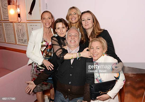 Tiphaine de Lussy Daisy Bates Mourad Mazouz Kim Hersov Lucy Yeomans and Maia Norman attend a private dinner hosted by Mourad Mazouz Stephen Friedman...